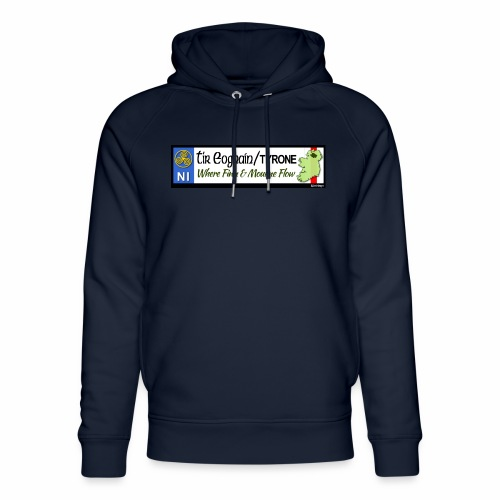 TYRONE, NORTHERN IRELAND licence plate tags decal - Unisex Organic Hoodie by Stanley & Stella