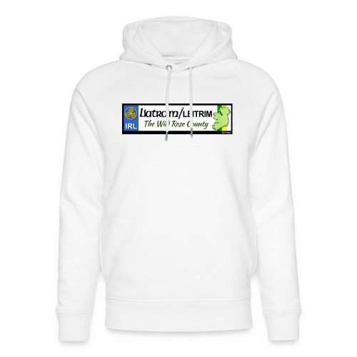 LEITRIM, IRELAND: licence plate tag style decal eu - Unisex Organic Hoodie by Stanley & Stella