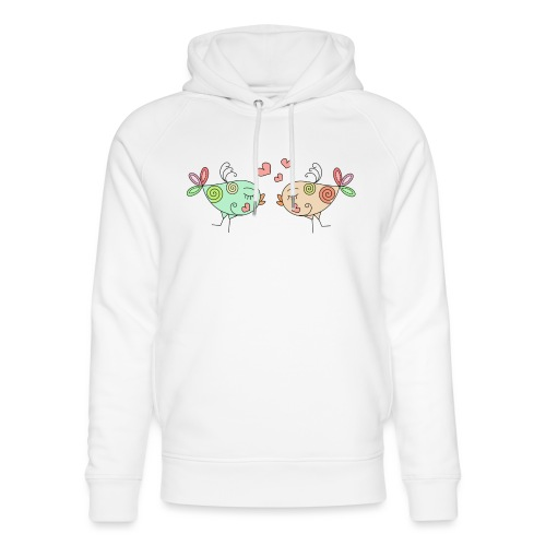 colourful birds in love - Unisex Organic Hoodie by Stanley & Stella