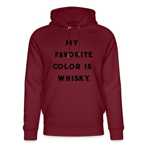 Favorite color whiskey / whiskey fan / gift idea - Unisex Organic Hoodie by Stanley & Stella