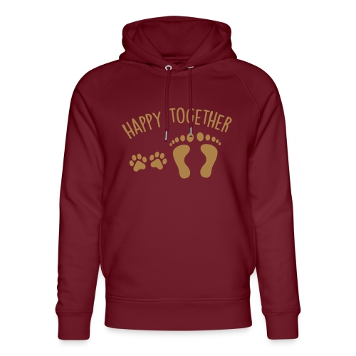 Vorschau: happy together dog - Unisex Bio-Hoodie von Stanley & Stella