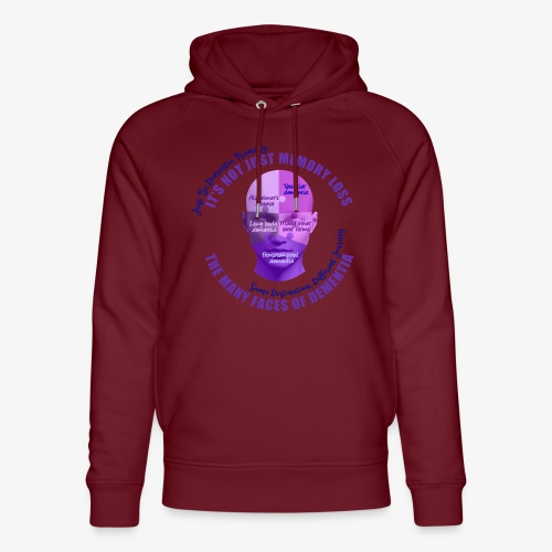 The Many Faces of Dementia - Unisex Organic Hoodie by Stanley & Stella