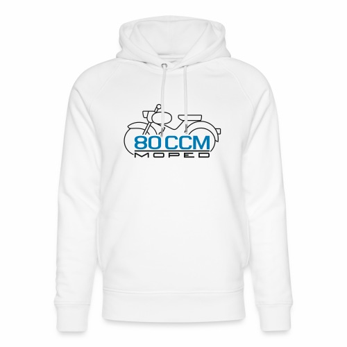 Moped sparrow 80 cc emblem - Unisex Organic Hoodie by Stanley & Stella