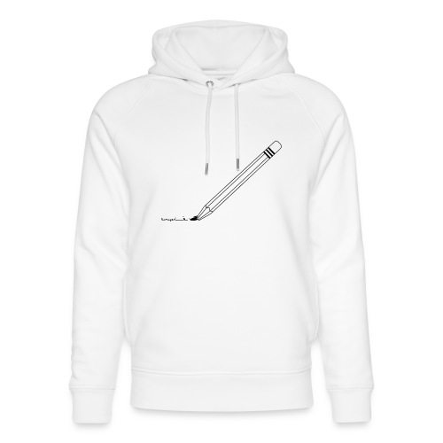 Damaged pencil logo - Unisex Bio-Hoodie von Stanley & Stella