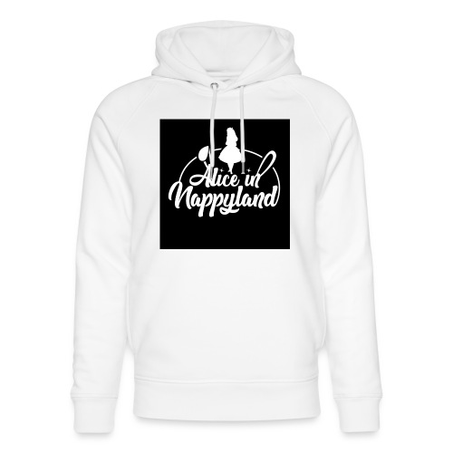 Alice in Nappyland TypographyWhite 1080 - Unisex Organic Hoodie by Stanley & Stella