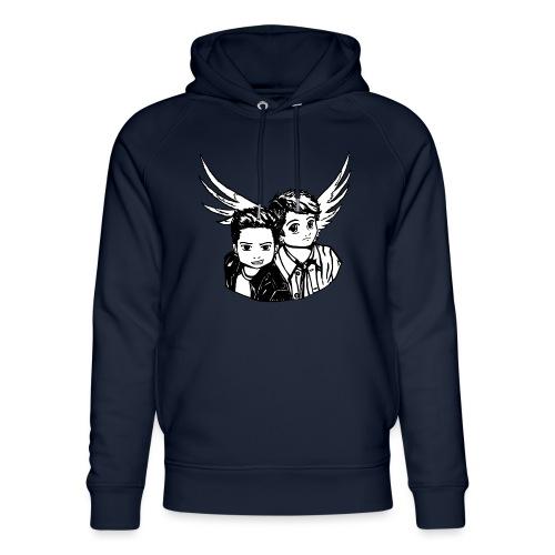 Destiel i sort/hvid - Stanley & Stella unisex hoodie af økologisk bomuld
