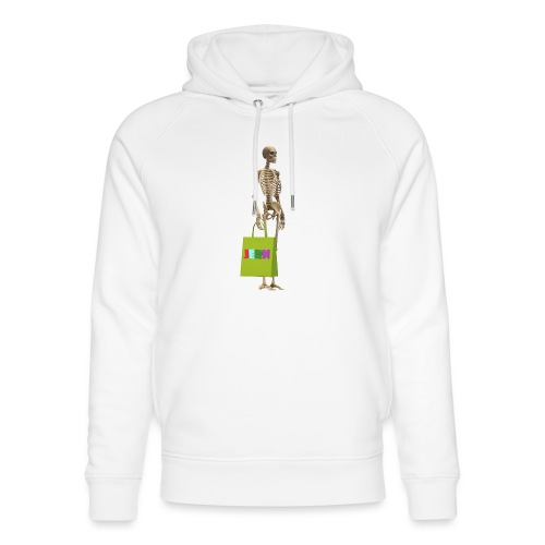 Shopping skeleton - Unisex Organic Hoodie by Stanley & Stella