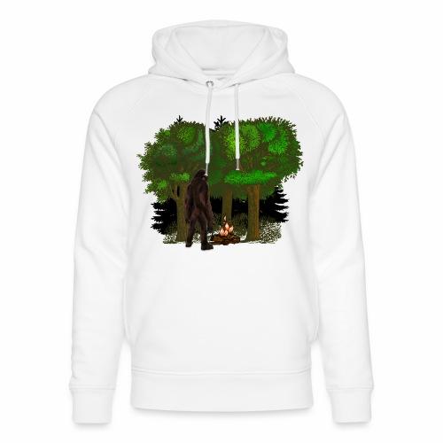Bigfoot Campfire Forest - Unisex Organic Hoodie by Stanley & Stella
