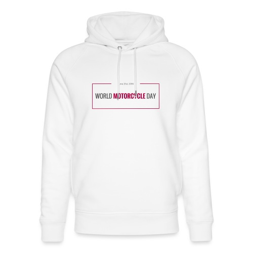 World Motorcycle Day 2016 Official T-Shirt ~ Grey - Unisex Organic Hoodie by Stanley & Stella