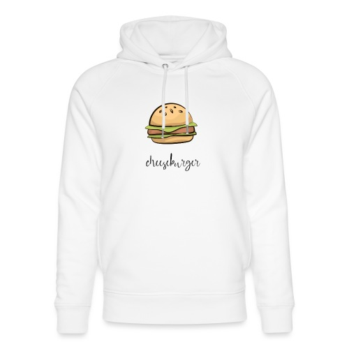cheeseburger, burger, keto cheeseburger, fast food - Unisex Organic Hoodie by Stanley & Stella