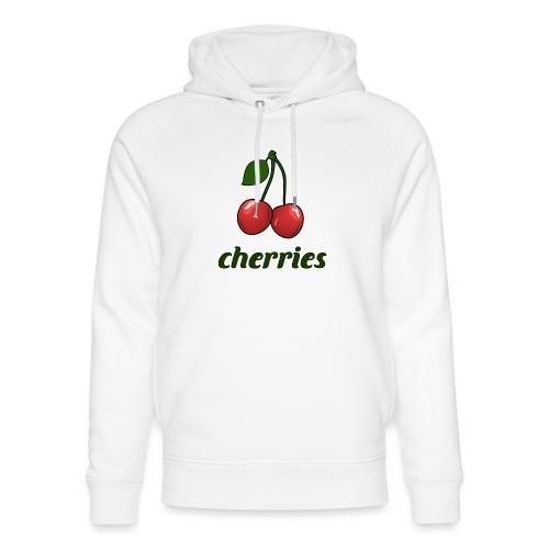 cherries, fruit, cherry, october cherries - Unisex Organic Hoodie by Stanley & Stella