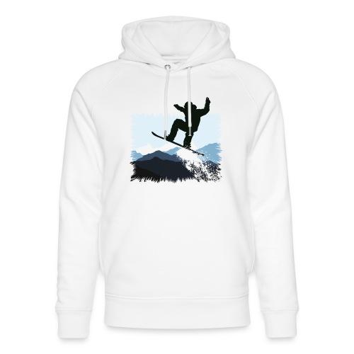 Snowboarder Action Jump | Apresski Shirt gestalten - Unisex Bio-Hoodie von Stanley & Stella