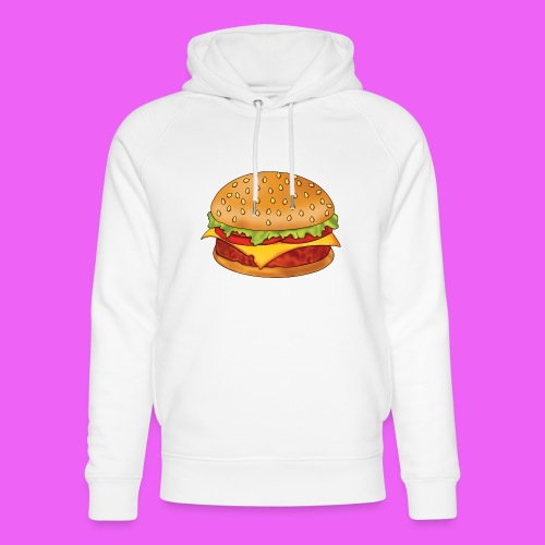 hamburguesa - Sudadera con capucha ecológica unisex de Stanley & Stella