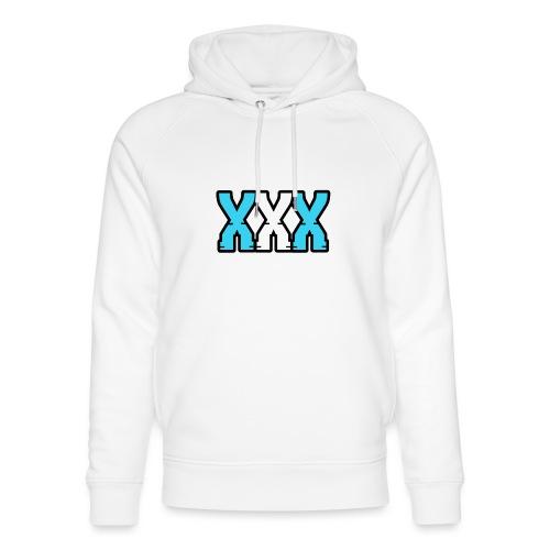 XXX (Blue + White) - Unisex Organic Hoodie by Stanley & Stella