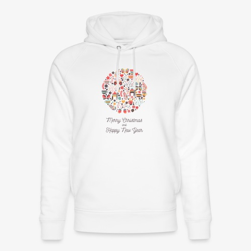 Merry Christmas and Happy New Year - Unisex Organic Hoodie by Stanley & Stella
