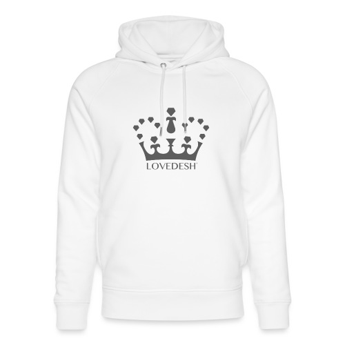 Lovedesh Crown (Dark Grey) - Unisex Organic Hoodie by Stanley & Stella