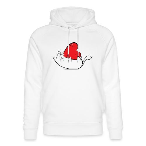 Cat Love - Uniseks bio-hoodie van Stanley & Stella