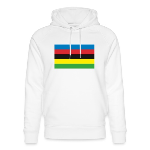 Cycling_World_Champion_Rainbow_Stripes-png - Uniseks bio-hoodie van Stanley & Stella