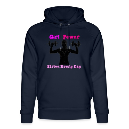 GIRL POWER strive every day - Sudadera con capucha ecológica unisex de Stanley & Stella