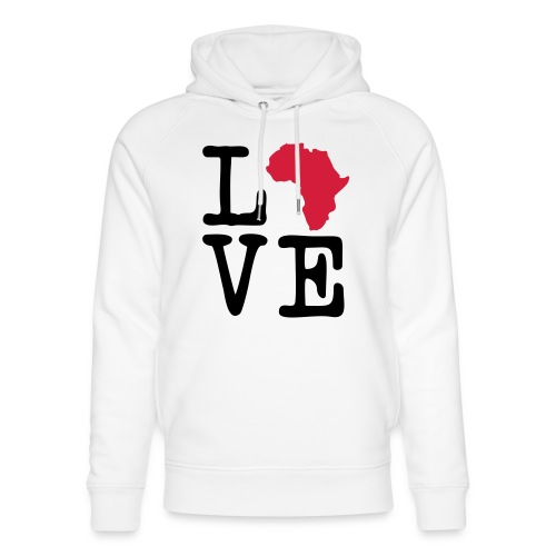 I Love Africa, I Heart Africa - Unisex Organic Hoodie by Stanley & Stella