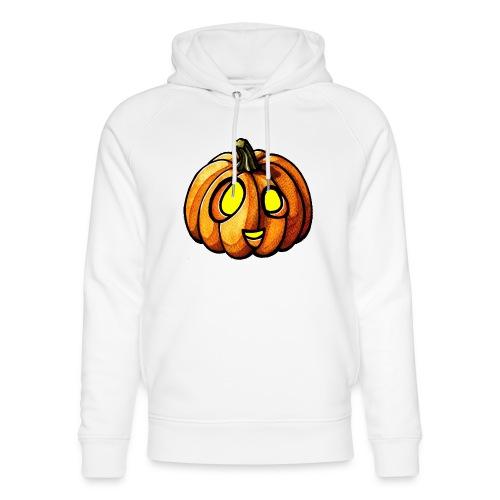 Pumpkin Halloween watercolor scribblesirii - Unisex Organic Hoodie by Stanley & Stella