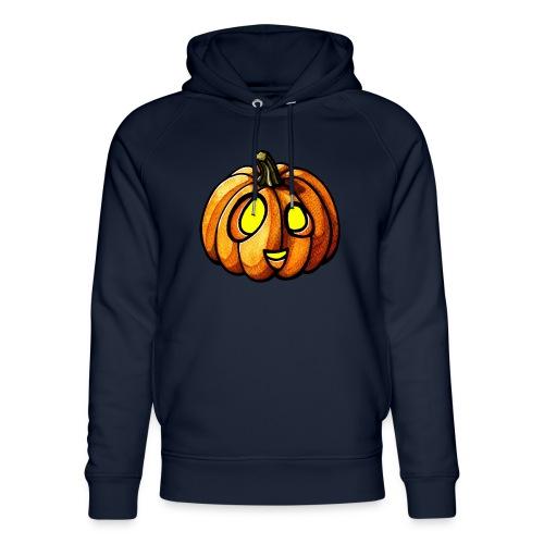 Pumpkin Halloween watercolor scribblesirii - Stanley & Stella unisex hoodie af økologisk bomuld