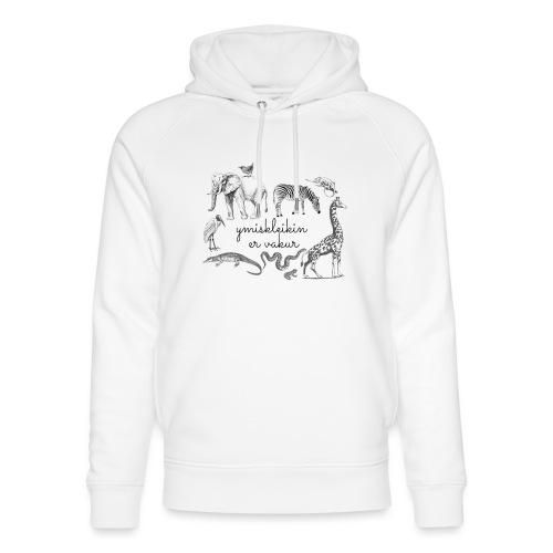 Ymiskleikin er vakur - Stanley & Stella unisex hoodie af økologisk bomuld