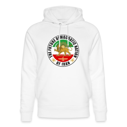 Iran Emblem Old Flag With Lion - Unisex Organic Hoodie by Stanley & Stella
