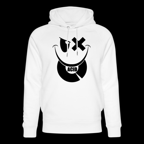 smiley acid techno vinyl - Unisex Organic Hoodie by Stanley & Stella