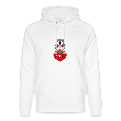 Lustiger Maulwurf - Herz - Liebe - Love - Fun - Unisex Bio-Hoodie von Stanley & Stella