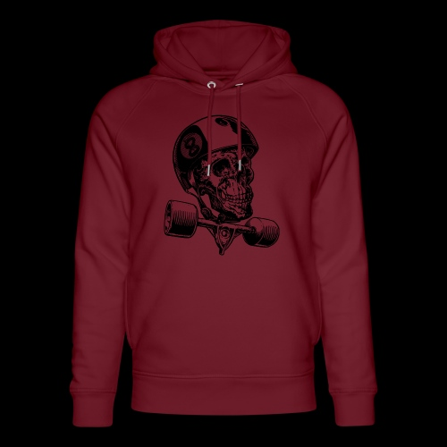Skull Longboard Rider - positive print - Sweat à capuche bio Stanley & Stella unisexe
