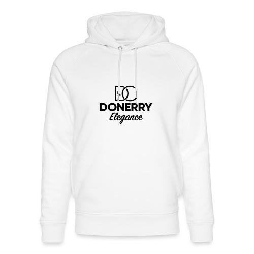 Donerry Elegance Black Logo on White - Unisex Organic Hoodie by Stanley & Stella