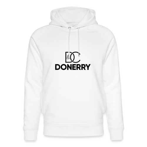 DONERRY Black Logo on White - Unisex Organic Hoodie by Stanley & Stella