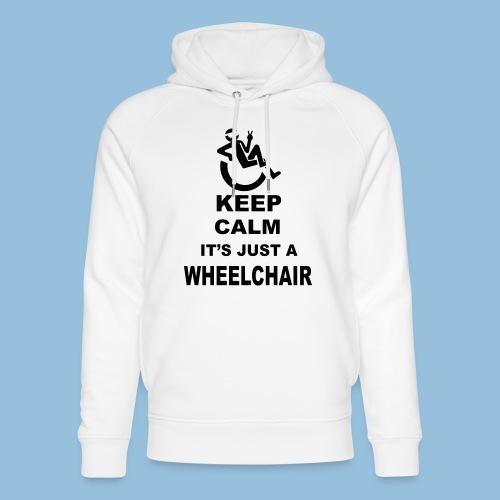Keepcalmjustwheelchair2 - Uniseks bio-hoodie van Stanley & Stella