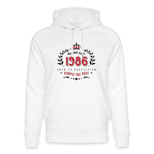 original since 1986 simply the best 30th birthday - Unisex Organic Hoodie by Stanley & Stella
