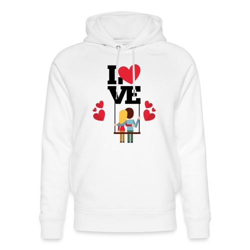 Love couple t-shirt - Sweat à capuche bio Stanley & Stella unisexe