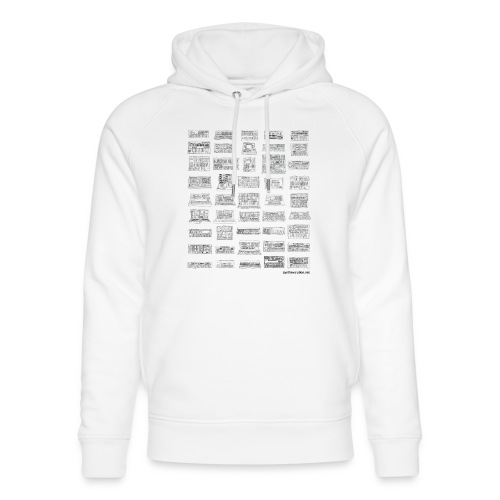 Synth Evolution T-shirt - White - Unisex Organic Hoodie by Stanley & Stella