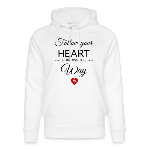 follow your heartbesser - Unisex Bio-Hoodie von Stanley & Stella