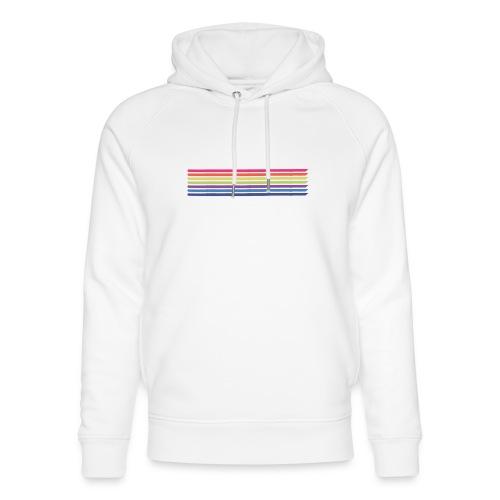 Colored lines - Unisex Organic Hoodie by Stanley & Stella
