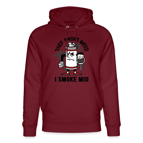 THEY SMOKE WEED I SMOKE MID CS:GO - Unisex Organic Hoodie by Stanley & Stella