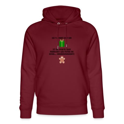 T-shirt cadeau de Noël - Sweat à capuche bio Stanley & Stella unisexe