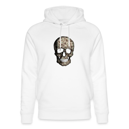 Skull Money Black - Sudadera con capucha ecológica unisex de Stanley & Stella