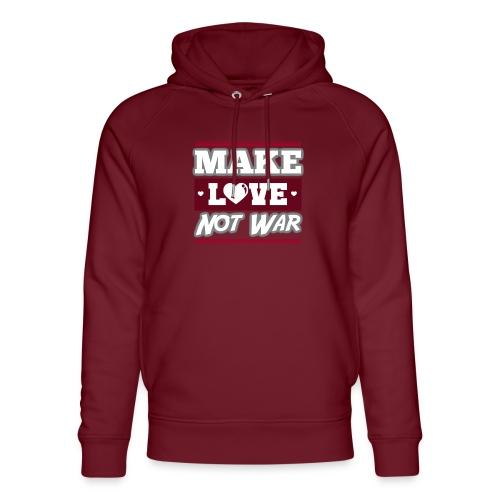Make_love_not_war by Lattapon - Stanley & Stella unisex hoodie af økologisk bomuld