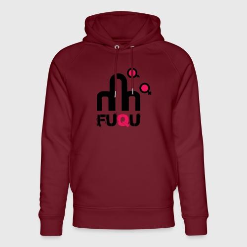 T-shirt FUQU logo colore nero - Felpa con cappuccio ecologica unisex di Stanley & Stella