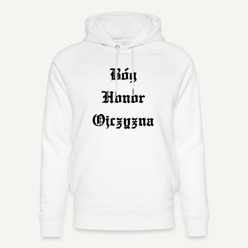 Bóg Honor Ojczyzna - Ekologiczna bluza z kapturem typu unisex Stanley & Stella