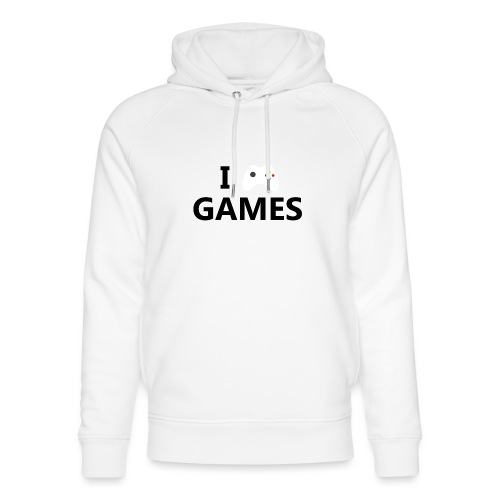 I Love Games - Sudadera con capucha ecológica unisex de Stanley & Stella