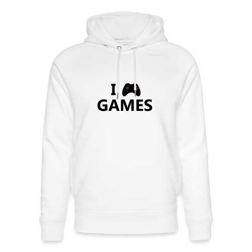 I Love Games 3 - Sudadera con capucha ecológica unisex de Stanley & Stella