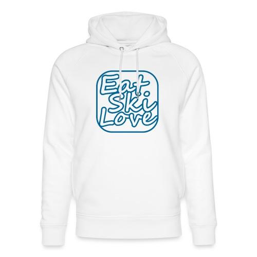 eat ski love - Uniseks bio-hoodie van Stanley & Stella