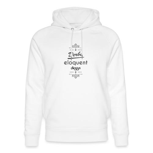 Derbe Eloquent Digga Schwarz - Unisex Organic Hoodie by Stanley & Stella