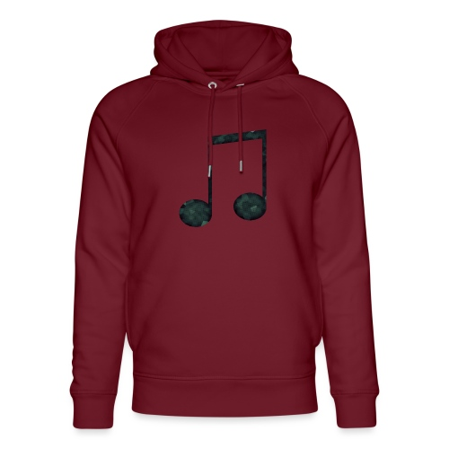 Low Poly Geometric Music Note - Unisex Organic Hoodie by Stanley & Stella